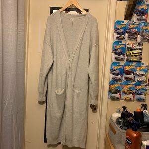 Free people long chunky knit cardigan